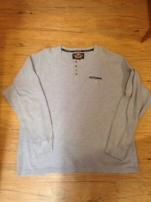 Harley Davidson Mens Long Sleeve Thermal Shirt Size XXL 2XL