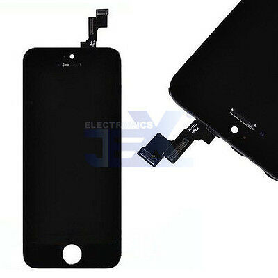 Black iPhone 5S Full Front Digitizer Touch Screen and LCD Assembly Display
