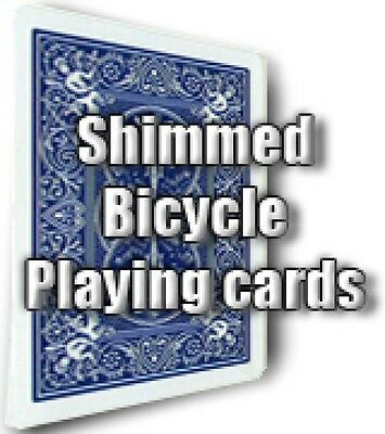 Shimmed Bicycle Blue Playing Card Magnetic Uspcc Royal Magic Tricks Gimmick Gaff