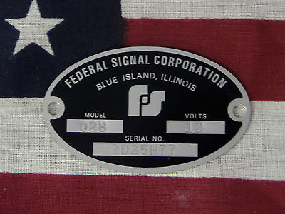 Federal Signal Corporation Siren Models Q / Q2 / Q2B Replacement Badge