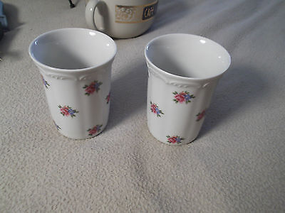 VTG. ROYAL PORZELLAN KPM BAVARIA WEST Germany - Hand Painted Floral Glasses Set2