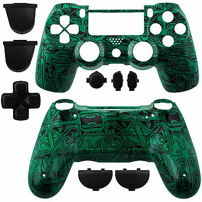 Controller Shell Full Housing for Playstation 4 Dualshock 4 Circuit Board Green