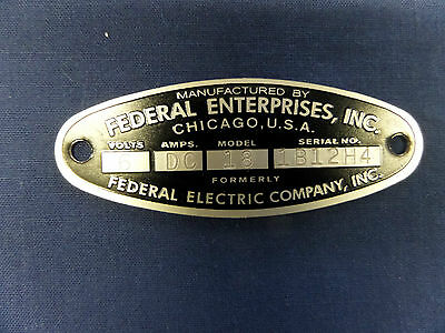Federal Enterprises Inc. 18 Solar Ray & 19 Propello Ray 6 Volt Replacement Badge