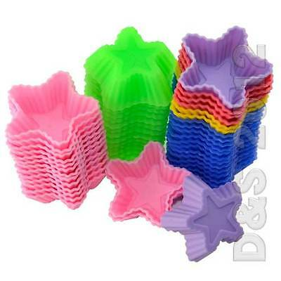 Hot 10X Stars Silicone Chocolate Muffin Cake Baking Molds Candy Jelly Soap Mould