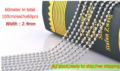 50pcs StainlessSteel Ball Chain Connector Key Chain Scrapbooking Ring Tag