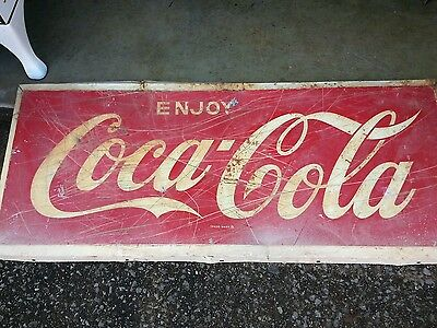 Coke Cola Metal  Sign
