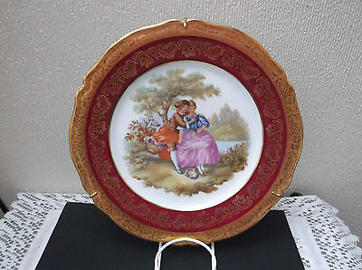 Gold and Red Fragonard Limoges plate