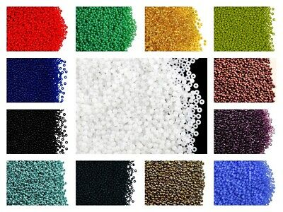 CHOOSE COLOR! 20g 11/0 (2mm) Seed Beads Rocailles Preciosa Ornela Czech Glass