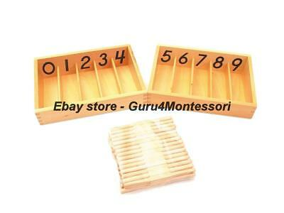 NEW Montessori Mathematics Material - Premium Spindle Boxes with 45 Spindles