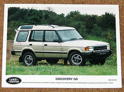 LAND ROVER DISCOVERY GS Original 1997 Press Photo