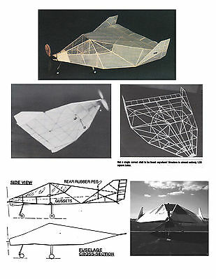 MODEL AIRPLANE PLANS FULL SIZE PRINTED PLAN PEANUT SCALE Facetmobile