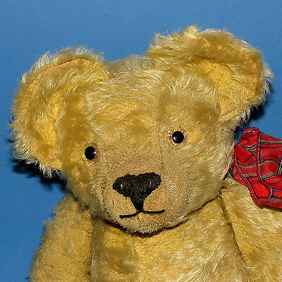 Characterful old William Terry English mohair antique teddy bear