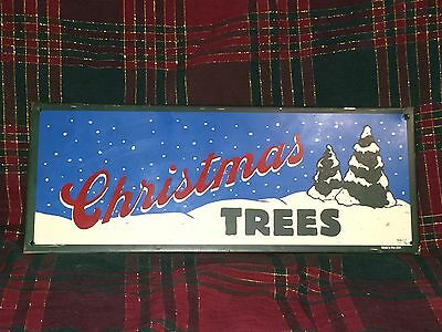 Antique Tin Christmas Trees Tree Farm Sign Mummert Sign Co East Berlin PA Xmas