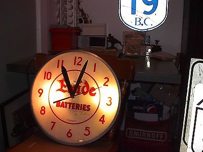 1940s Exide Batteries Advertising Clock