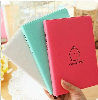 """Molang Rabbit"" Diary Any Year Planner Pocket Journal Notebook Agenda Scheduler"