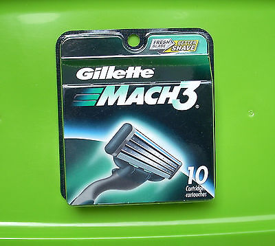 GILLETTE MACH3 RAZOR BLADES   1 PACK - 10 CARTRIDGES    NEW IN PACKAGE