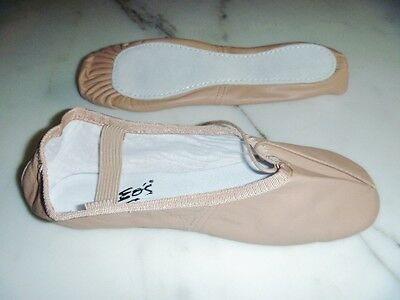 Ballet Slippers, New, Pink Leather , Full Sole