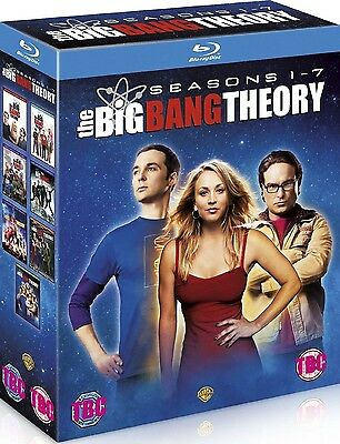 The Big Bang Theory 1-7 Complete Box Set Seasons 1 2 3 4 5 6 7 BLU RAY Brand New