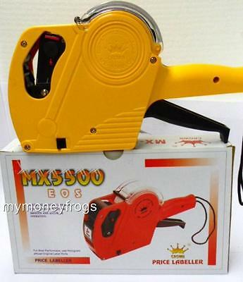 Yellow Retail Store Price Pricing Gun for Sticker Tag One Line Labeler Label ink
