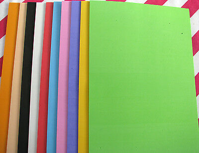10 CRAFT FOAM SHEETS 29.6 x 19.6 cm