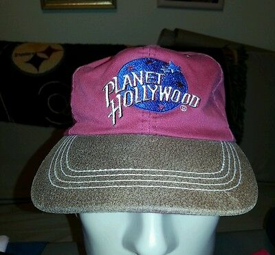 Vintage Planet Hollywood Restaurant Hat Snapback Cap Red Brown