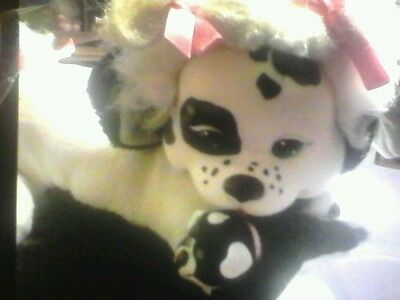 Vintage 1991 Hasbro Puppy Surprise black & white spotted plush With Baby