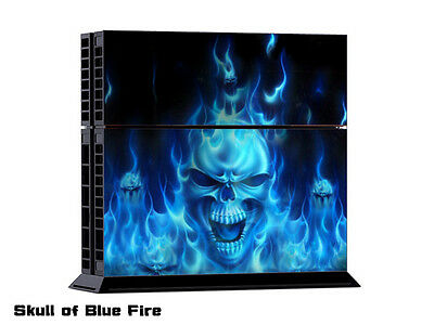 SKULLOF BLUE5 FIRE DECAL SKIN PROTECTIVE STICKER for SONY PS4 CONSOLE CONTROLLER