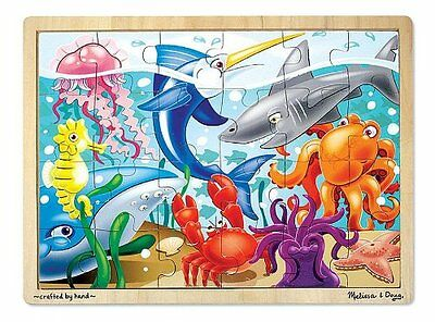 Melissa and Doug Under the Sea Jigsaw (24 pc) , New, Free Shipping