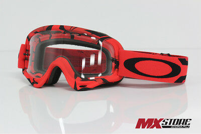 Oakley NEW Mx O-Frame Intimidator Dirt Bike Adult Black Red Motocross Goggles