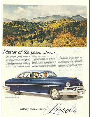 1951 vintage ad for Lincoln automobiles 4500