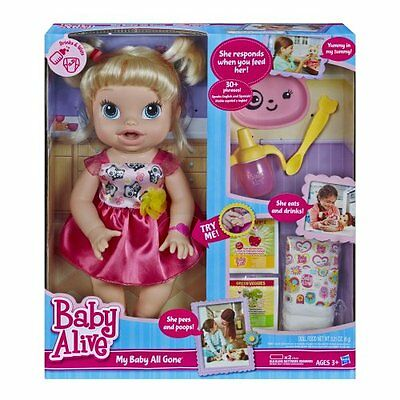 NEW Baby Alive My Baby All Gone Doll  Blonde