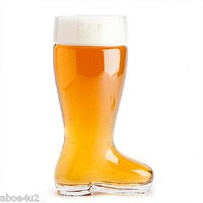 Giant 2 Litre Big Beer Boot Glass - Novelty Beer Drinking German Glass Boot