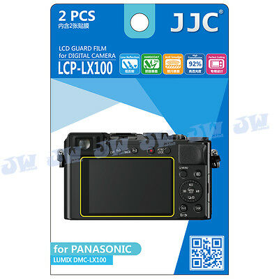 JJC LCD Guard Screen Protector Film For PANASONIC LUMIX DMC-LX100 TZ90 FZ85 TX1