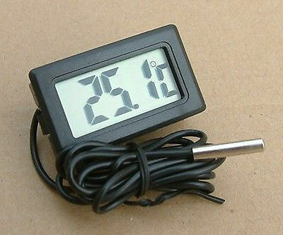 Thermometer digital LCD Temperatur Anzeige Messer Termometer F/ Aquarien car
