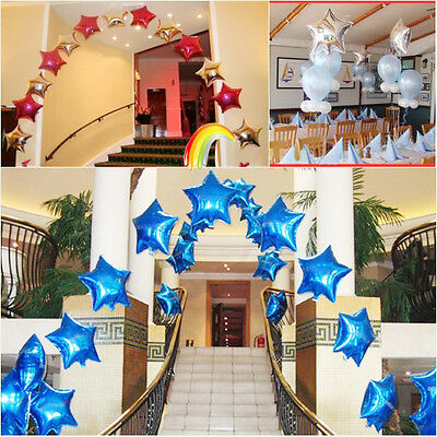 "Cute 18"" Star Shape Foil Metallic Balloon For Birthday Wedding Parties 7 Colors"