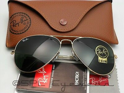 Ray Ban Aviator RB3025 L0205 Arista Gold G-15 Lens - Italy - Pick Color Case!