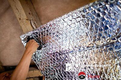 1.24m WIDE U-FOIL SINGLE ALUMINIUM BUBBLE INSULATION FOIL (1BD/A-1) ATTIC, ROOF