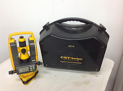 CST/Berger DGT10 Digital Transit/Theodolite With Case.  FREE SHIPPING lot#1