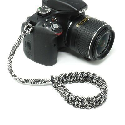 """Cordy Classic"" Diamonds Paracord Camera Wrist Strap - Handmade by Cordweaver"