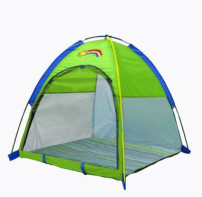 """Pacific Play Tents Baby Suite Deluxe Nursery Tent w/1.5"""" Pad - Green , New, Fr"""