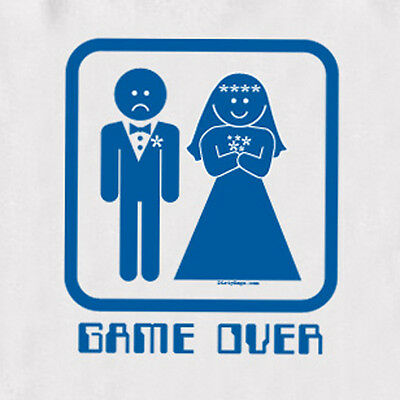 GAME OVER T Shirt tux wedding gift funny gift bachelor party White