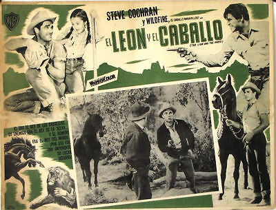 L329 The Lion and the Horse, original Mexican Lobby card, 1952 Steve Cochran