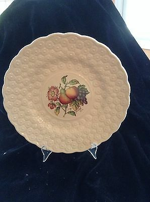 "SPODE COPELAND ENGLAND 9"" Plate DAISIES Pear Grapes Apple Flowers"