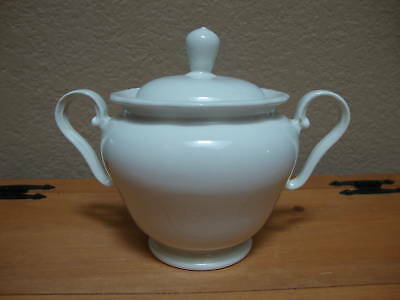 Burleigh Ware Terrace White Sugar Bowl with Lid