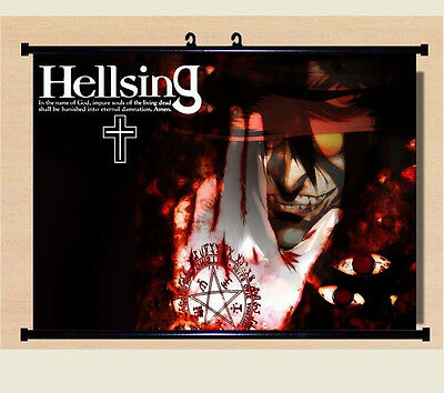 Home Decor Japanese Anime Wall poster Scroll Hellsing Alucard Cosplay Art X05