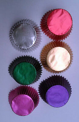 Foil Metallic Cupcake Bun Cases Choice Of Colours High Quality Paper Muffin Case
