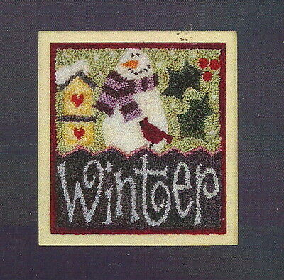 """Lizzie Kate """"Winter Sampler"""" Punchneedle Embroidery Pattern"""