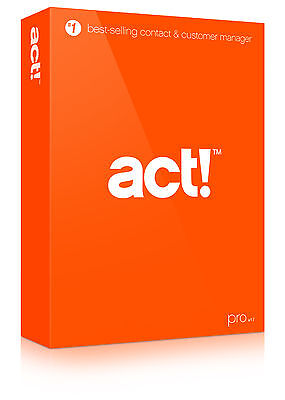 NEW Act! Pro v17 (2015) DVD - 1 User - 3 Activations