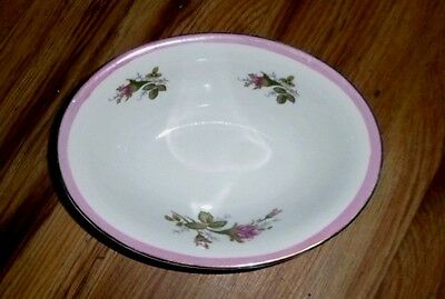 Asian White with Pink Trim and Rose Decorative Bowl Made in Japan Desert Dish