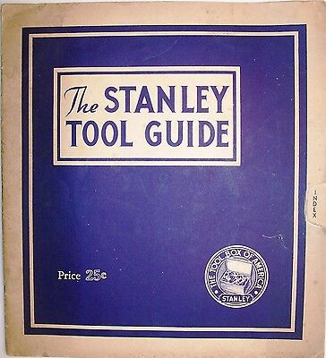Stanley Tool Guide, 1935, Wonderful Condition, Rare